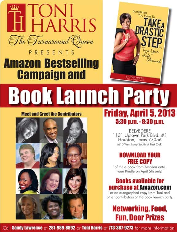 "Toni Harris ""The Turnaround Queen"" Presents Amazon Best-Selling Campaign and Book Launch Party"